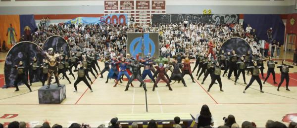 High School Dance Team Performs Avengers 'Infinity War' and 'Endgame' for Homecoming Assembly Dance 1