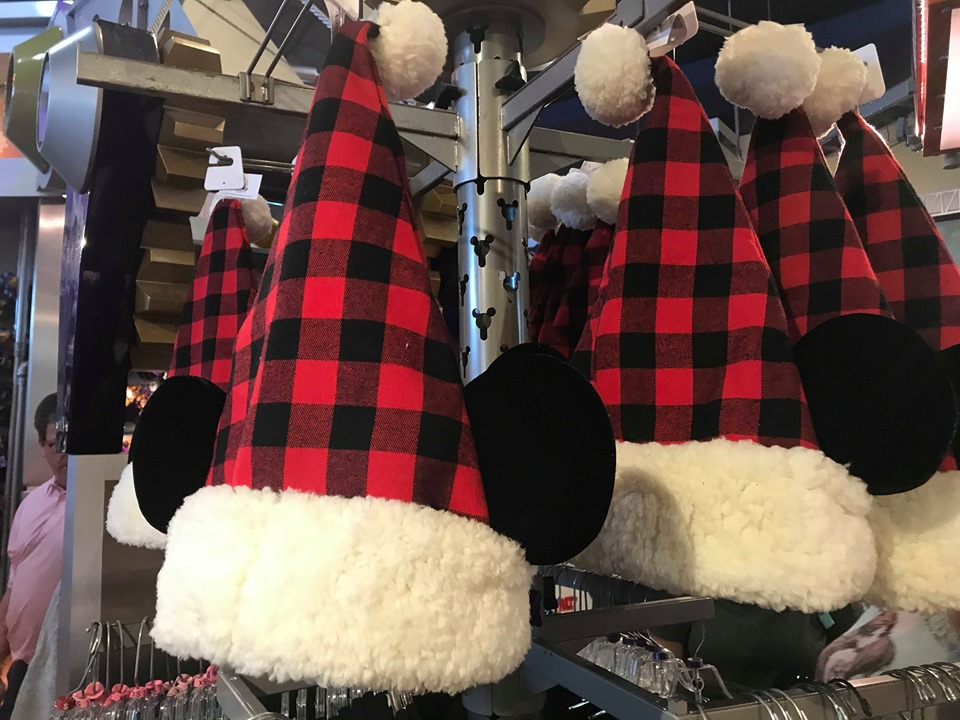New Plaid Disney Spirit Jersey And Santa Mickey Hat For The Holidays 2