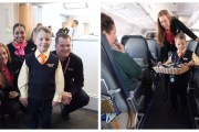 Five Year-Old Boy Becomes Honorary Flight Attendant En Route To His Walt Disney World Resort Make a Wish