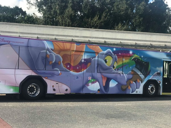 Figment Bus Wrap Spotted at Walt Disney World