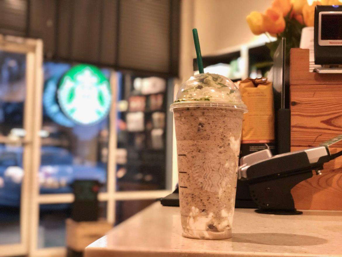Try The Spooky Good 'Oogie Boogie' Frappuccino Now At Starbucks