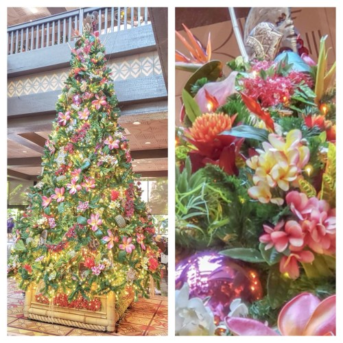 Disney's Polynesian Resort Finishes Decorating For a Tropical Christmas 2