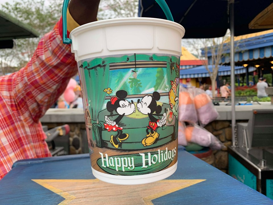New Happy Holidays Disney Popcorn Bucket Available At Magic Kingdom