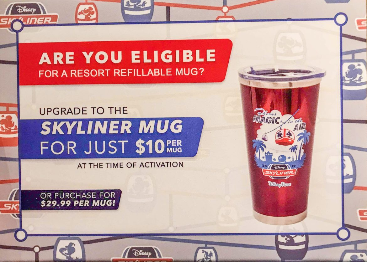 Skyliner Refillable Mugs Fly Into Walt Disney World Resorts