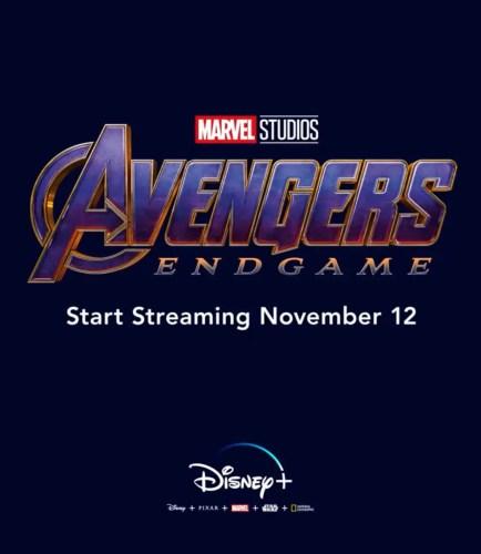 Marvel's 'Avengers: Endgame' Added to Disney+ Launch Day Line-Up 2