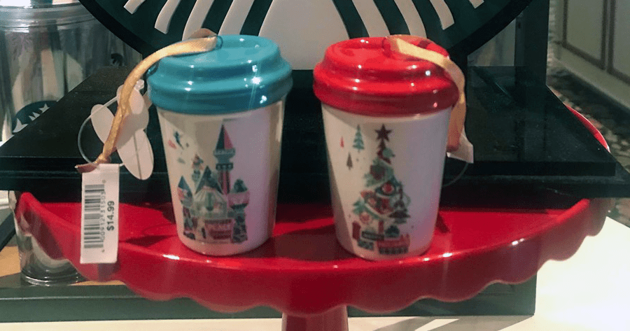New Starbucks Disney Mug Ornaments Now Found At Disneyland 1