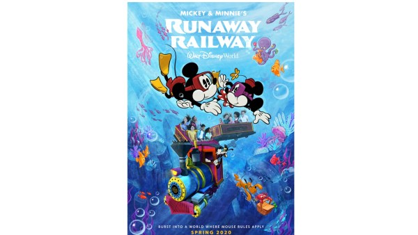 New Poster Released for Mickey & Minnie's Runaway Railway