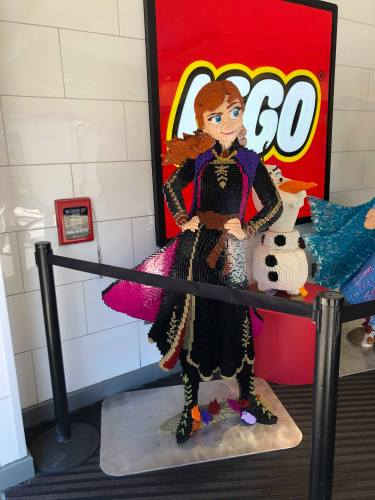 Frozen 2 LEGO Display Materializes in Disney Springs 1
