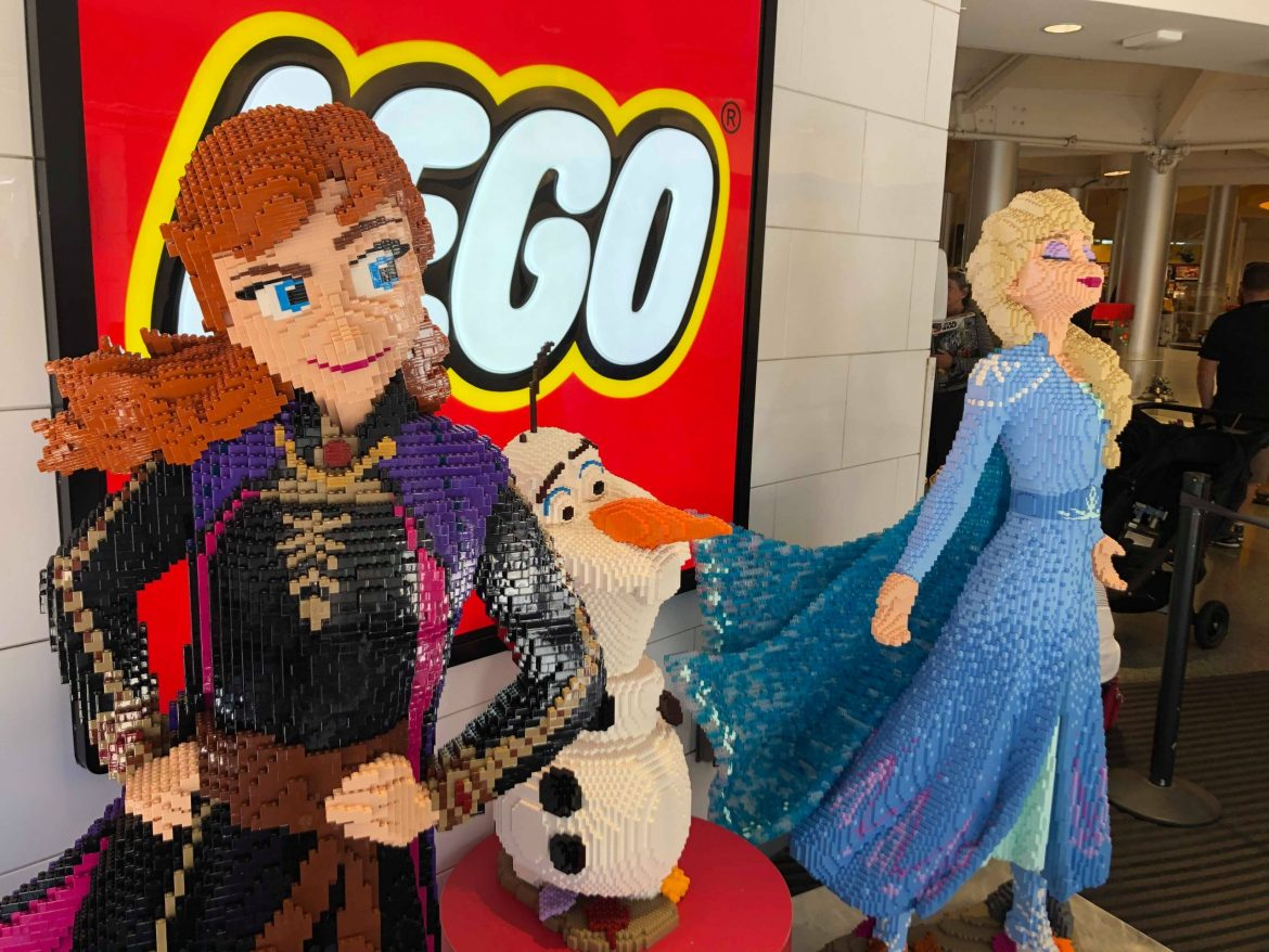 Frozen 2 LEGO Display Materializes in Disney Springs
