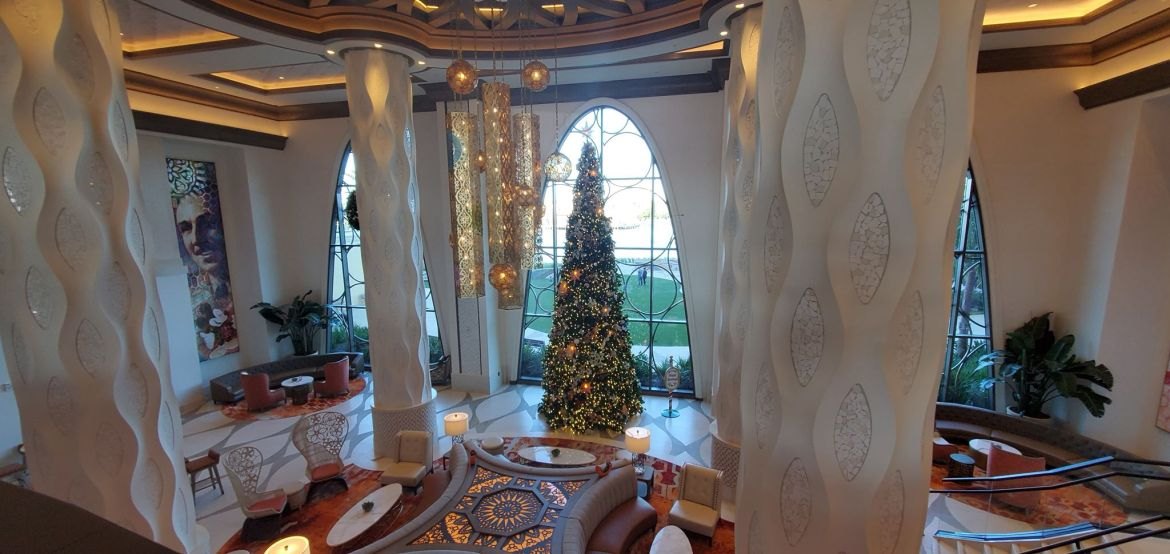 Festive Christmas Tree at Disney's Coronado Springs