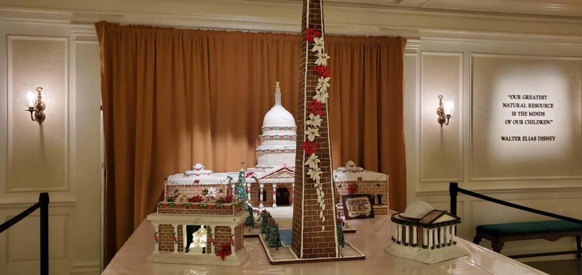 Epcot's America Pavilion Stuns with Its Gingerbread Display