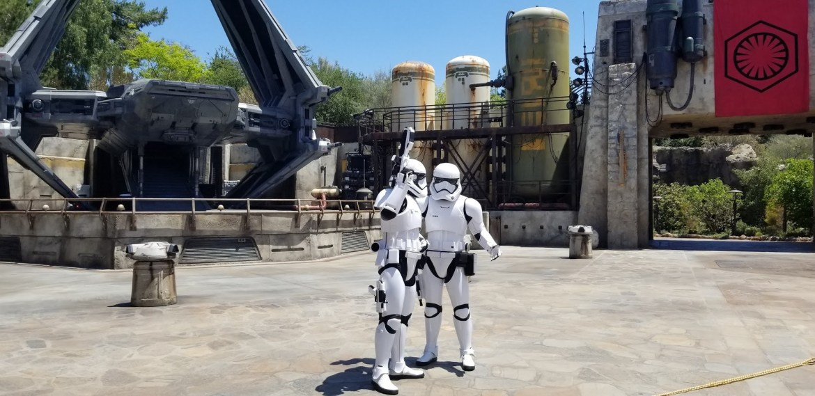 Stormtrooper in Galaxy's Edge Owns Guy With a Lightsaber
