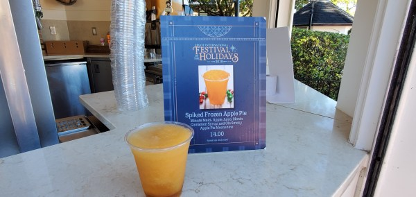 Spiked Frozen Apple Pie Cocktail - New Holiday Drink at Epcot 1