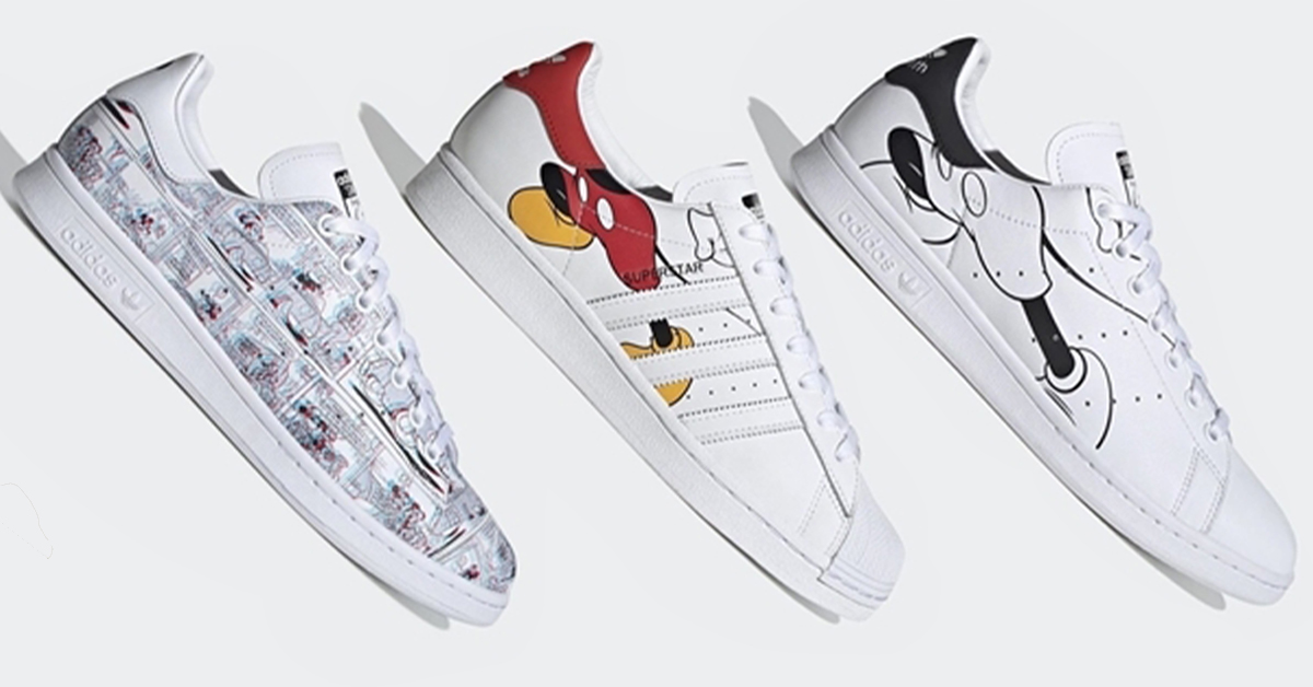 New Disney x adidas Mickey Sneaker Collection Is Coming Soon