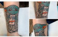 Tattoo of Baby Yoda is the Hot New Internet Sensation