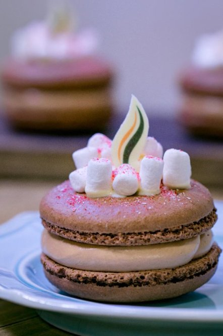Try The Hot Cocoa Marshmallow Macaron At The Festival of the Holidays