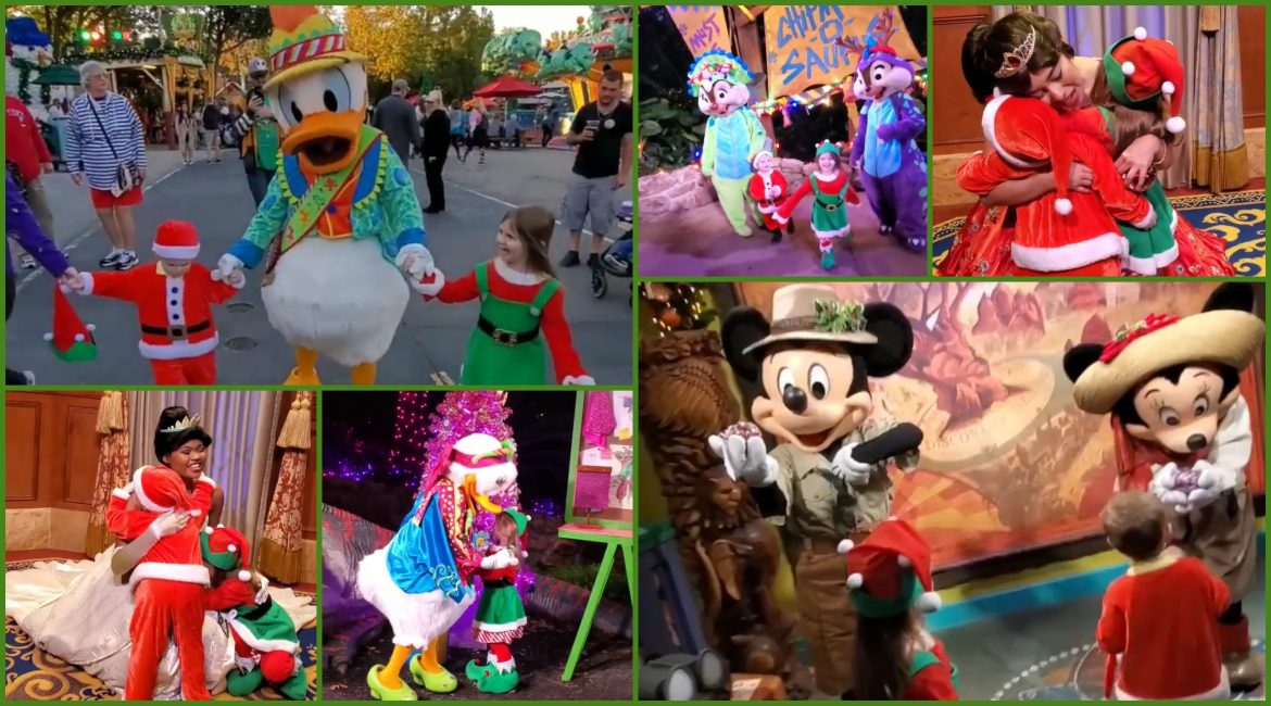 Festive Guests Give Special Gifts to Disney Characters During Meet and Greets at Walt Disney World