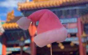 Santa Hat Cotton Candy Comes to Epcot Just in Time for the Ho Ho Holidays