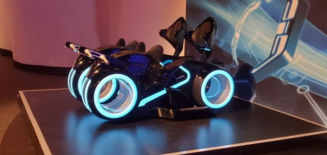 Tron Lightcycle Run Vehicles spotted on the way to the Magic Kingdom 2