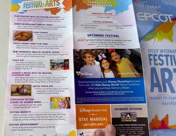 Epcot's International Festival of the Arts Map Debuts on Opening Day 3