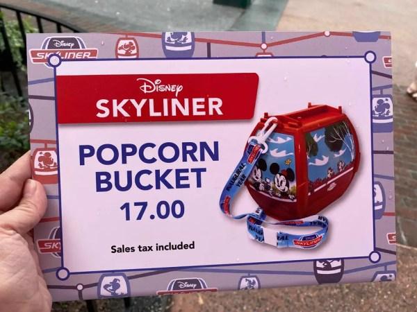Disney Skyliner Popcorn Bucket