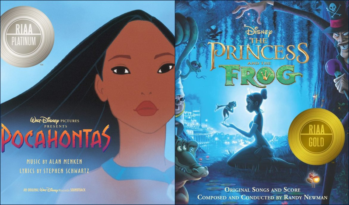 RIAA Certifies Disney Hits 'Colors of the Wind' with Platinum and 'Almost There' with Gold Ratings
