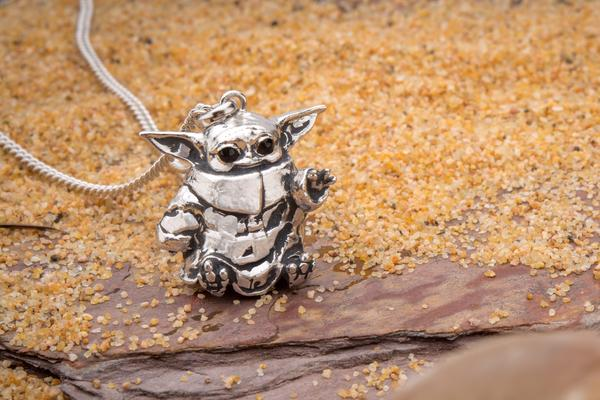 The Child Necklace (Baby Yoda) By RockLove Now On Pre-Order