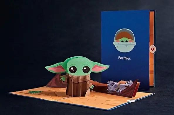 Baby Yoda card lovepop