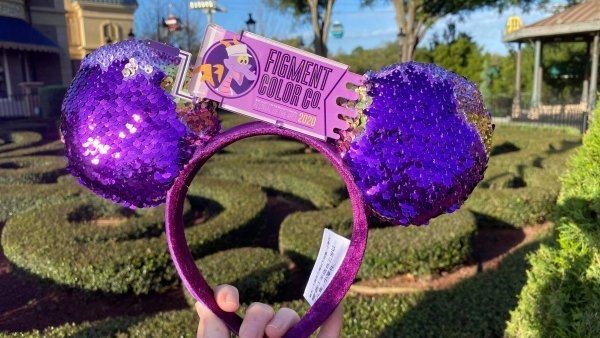 New Reversible Sequin Figment Minnie Ears For Festival of the Arts 1