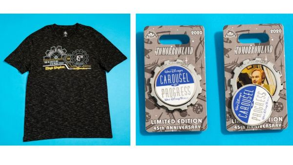 New Merchandise for 45th Anniversaries of Space Mountain and Carousel of Progress 1