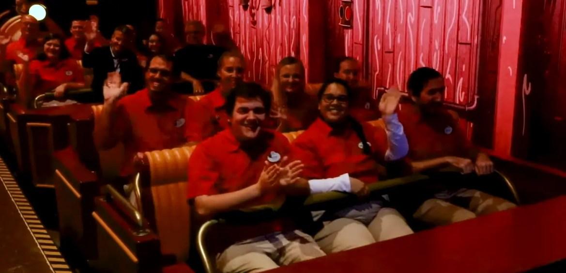 Disney Cast Members Get a first look at Mickey & Minnie's Runaway Railway