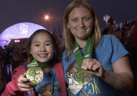 Girl finishes Princess 5k