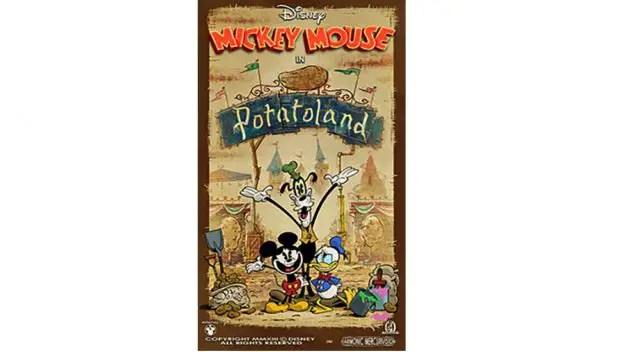 "New ""Potatoland"" Poster For Mickey & Minnie's Runaway Railway!"