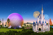 Disney World Website showing park hours for beginning of May
