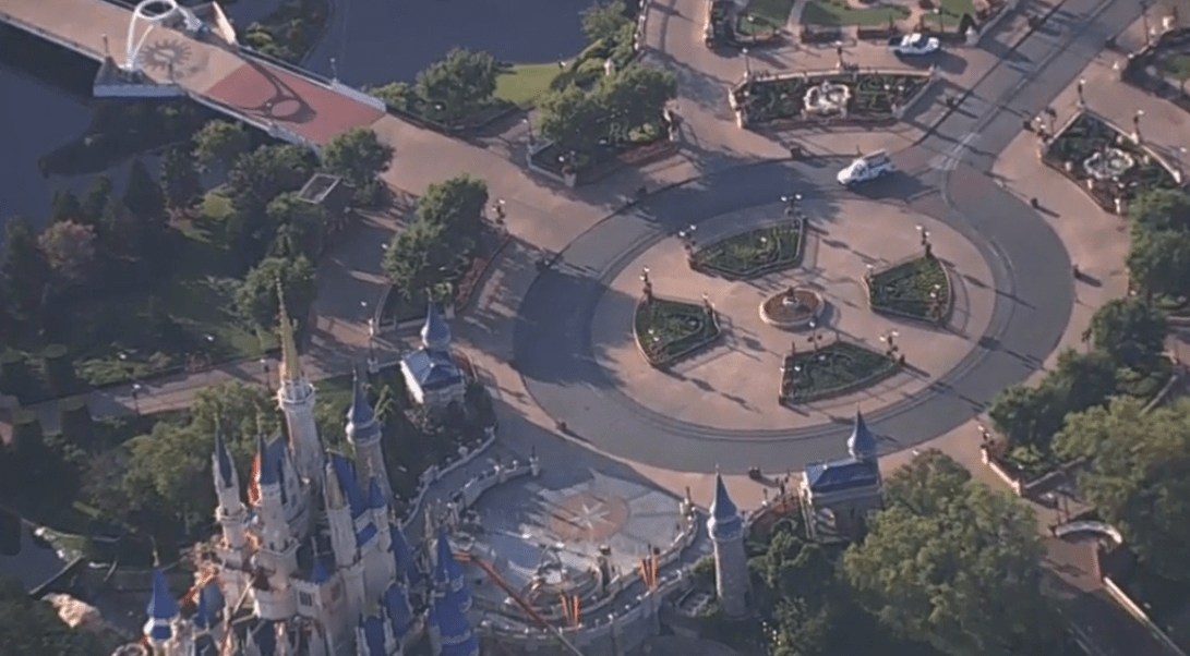 Live look at a completely empty Walt Disney World