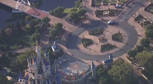 Live look at a completely empty Walt Disney World 1