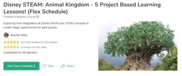 Disney STEAM: Animal Kingdom Online Class! 1