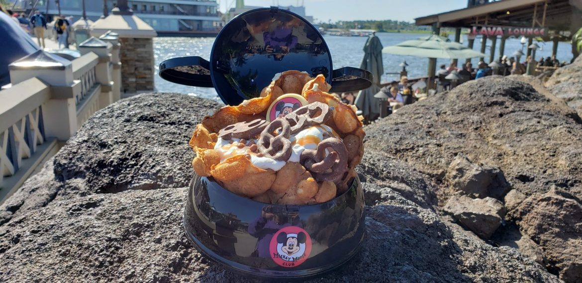 AristoCrepes is Now Serving A Bubble Waffle Sundae in a Mickey Mouse Club Ear Hat Bowl!