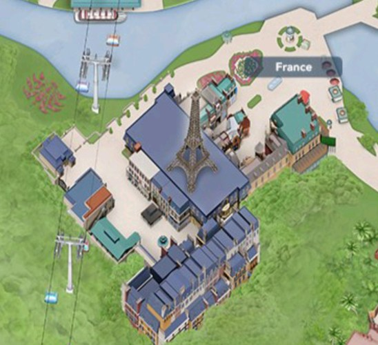 Epcot's France Pavilion expansion including Remy's Ratatouille Adventure added to My Disney Experience 1