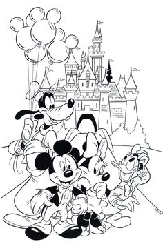A Huge Collection of Disney Coloring Pages & Books