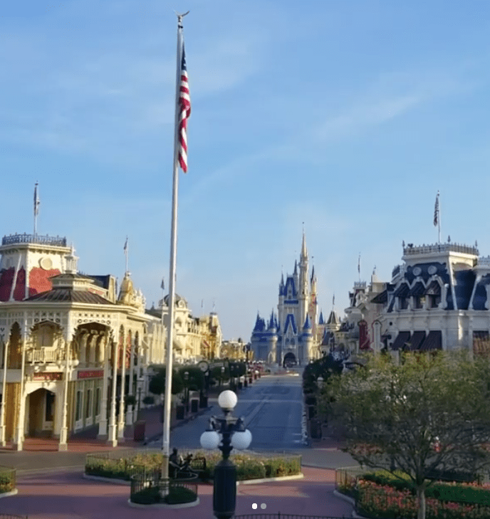 Walt Disney World Resort President Josh D'Amaro shares touching American flag video from the Magic Kingdom