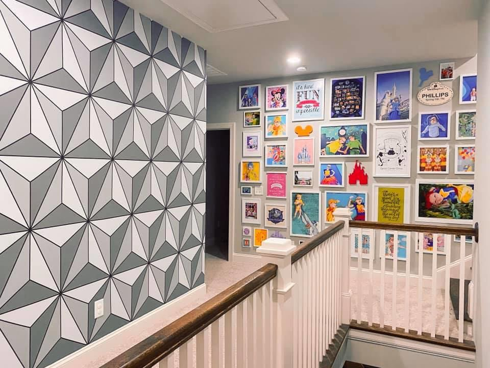 Make this Epcot Spaceship Earth Wall for your home