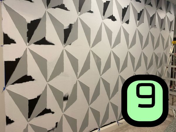 Make this Epcot Spaceship Earth Wall for your home 9