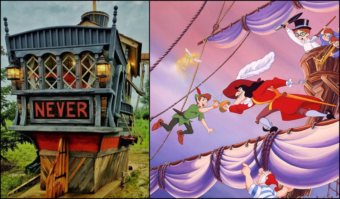 Journey to Neverland in these Peter Pan and Captain Hook Inspired Playhouses