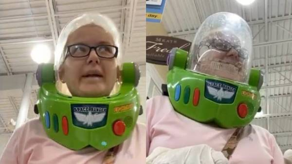 North Carolina Woman Wore a Buzz Lightyear Helmet to the Store Because She Didn't Have a Mask 2
