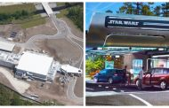 Aerial look at Star Wars Galactic Starcruiser hotel