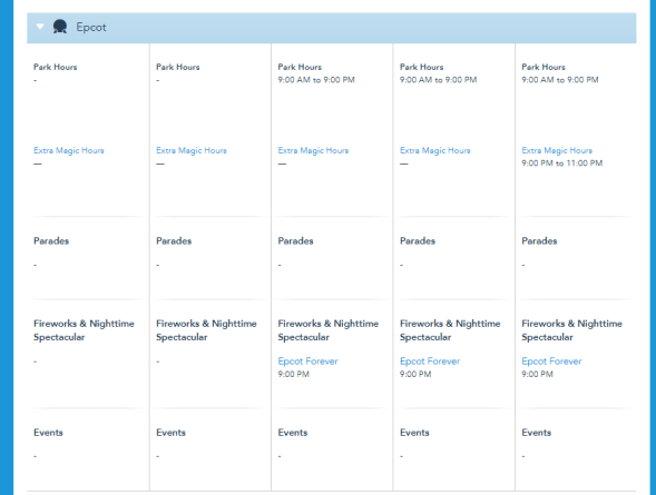 Disney World has removed park hours up to June 14th 1