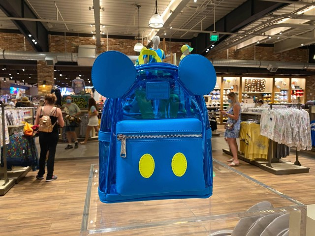 Clear Blue Mickey Loungefly Bag From Neon Summer Fun Collection 1
