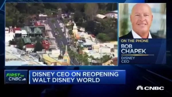 Disney CEO Bob Chapek talks to CNBC on Disney World Reopening 2