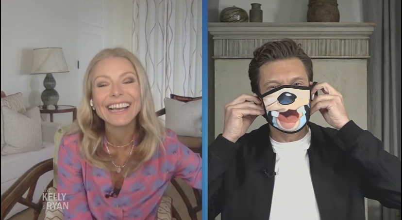 Kelly Ripa And Ryan Seacrest Share An Up-Close Look At New Disney Face Masks!